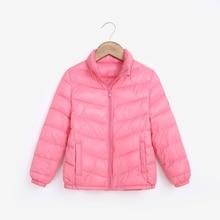 Baby Children Outerwear Ultra Light Girls Boys Children 90% duck jacket coat clothes Spring Autumn winter pocket