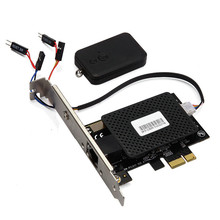Multifunctional PCIE PCI Express Gigabit Network card + remote control switch card computer desktop switch 2 in 1