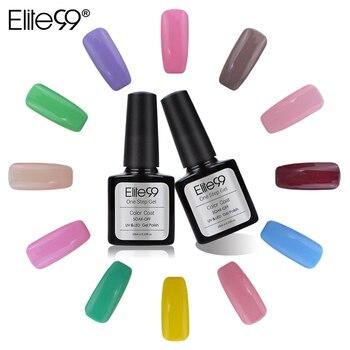 Elite99 Une Étape Professionnel Vente Chaude Nail Gel Polonais Couleur Glitter Une étape Soak Off UV Nail Gel Aucune Base Coat Top Coat 10 ML
