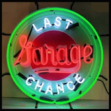 Last Chance Garage Neon Sign Neon Bulbs Real Glass Tube Handcrafted Decorate Beer Bar Pub Restaurant Excellent Advertising 24x24