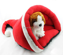 Small Pet mat red christmas hat shape kennel dog bed nest free shipping