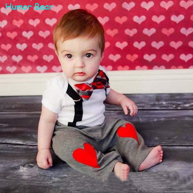Humor Bear Newborn summer Baby Boy Clothes set  2PCS Kids clothing infant clothing kids brand clothing<br><br>Aliexpress