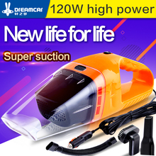 Portable car  vacuum cleaner wet and dry dual purpose 120W POWER MINI hand-held high efficiency vacuum cleaner aspiradora 12v