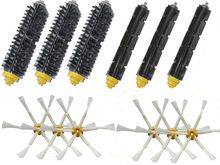 New 3 Bristle & Flexible Beater &6 Armed Brush For iRobot Roomba 600 700 Series 620 630 650 660 770 780 790(China)