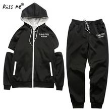 2016 New Thick Zipper Hoodies Hot Selling Full Real Autumn Winter Comfort Single Men's Brand Mens Tracksuits Jacket+pants(China)