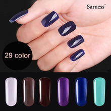 Sarness Soak Off Gel Kit 29 Color Long-lasting UV Gel Nail Polish Need Led UV Lamp Defender Gel Paints Nail Art(China)
