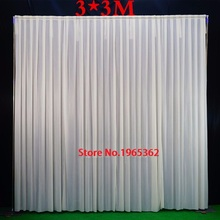 3X3M High quliaty White Wedding Backdrop Curtain Wedding Drapes/Stage Backdrop For Event&Party&Banquet&Home Decoration
