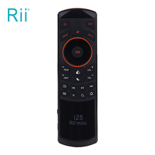 RII K25 2.4Ghz Wireless Mini Multifunction QWERTY Keyboard & Infrared Remote Control with USB Interface Receiver For PC Game(China)