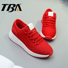 TBA Runner Women's Sport Shoes Woman Winter Wedge Sneakers Breathable Air Mesh Running Shoes Top Tenni Athletic Women's Sneakers(China)