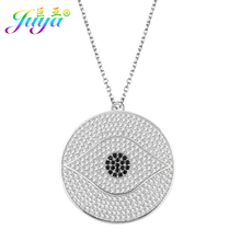 2017 New Magic Micro Pave Cubic Zirconia Turkish Eye Evil Eye Greek Eye Green Pendant With Lobster Link Chains Chocker Necklace(China)