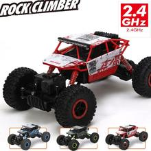 Free Shipping 1:18 Scale Car Remote Control Rock Crawler 4WD Vehicle Race Truck EU Plug Highspeed Micro Racing Cars Model Toys(China)