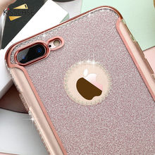 KISSCASE Luxury Rhinestone Glitter Bling Case For iPhone 5s 5 SE Case Soft TPU Mobile Phone Case For iPhone 5 5S SE 7 6 6S Cover(China)