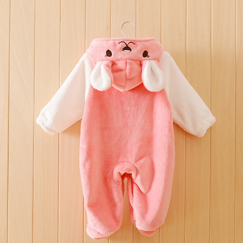 Quality Baby Rompers Boy Girl Winter Newborn Children Clothes Warm Jumpsuit Print Animal Costume Infant Kids Robe Baby Clothing<br><br>Aliexpress