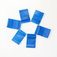 300pcs 2x2.5cm Zip Lock Bags Blue Poly Bag Recyclable Mini Plastic Bag Cute Jewelry Findings Earrings Beads Gift Packaging Bags