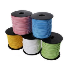 3mm mixed color Faux Suede Cord Lace For Clothes Shoes Jewelry Making Findings about 100 yard/roll