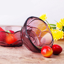 Colorful Rose Glass Bowl Kitchen Bowl Simple And Exquisite Glittering And Translucent(China)