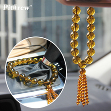 "Ornaments for Car Crystal Clover""Luck Turns In One's Favour""Car Pendant Car Accessories Hanging Ornament For Car Rearview Mirror(China)"