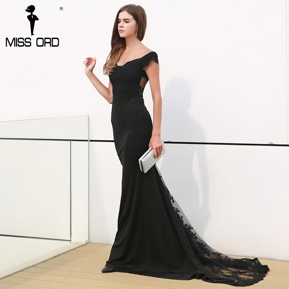 فستان سهرة  Missord جذاب مع ذيل وذو تصميم مميز 2