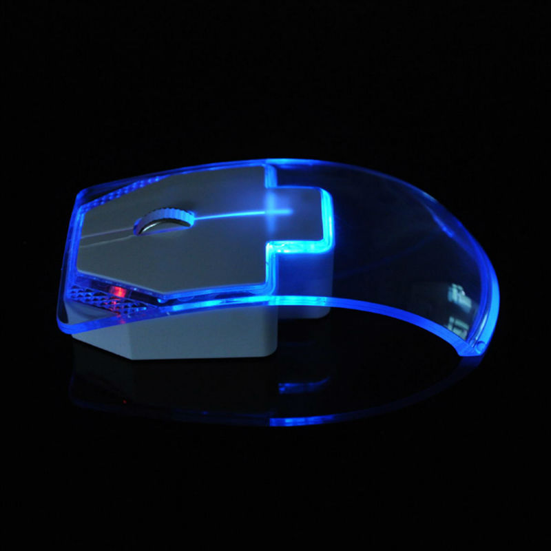 USB 2.4Ghz Wireless Mouse New Creative Transparent Ultra thin Mute Mouse for PC Laptop Desktop Fashion Gift Mouse Glow Color <br><br>Aliexpress