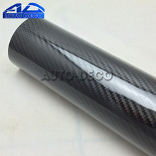 5D Carbon Fiber Vinyl High Glossy Black 5D Texture Film Wrap Car Motocycle Decal Sticker Color Change