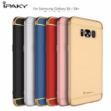 For Samsung Galaxy S8 Plus Case Cover iPaky Metal Frame + Plastic PC 3 in 1 Hybrid Case for Galaxy S8+ Cover Protective Shield
