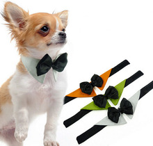 Wholesale Adjustable Dog Necktie Gentleman Puppy Dog Bowtie Promotion 3 Color Pet Tie Free Shipping