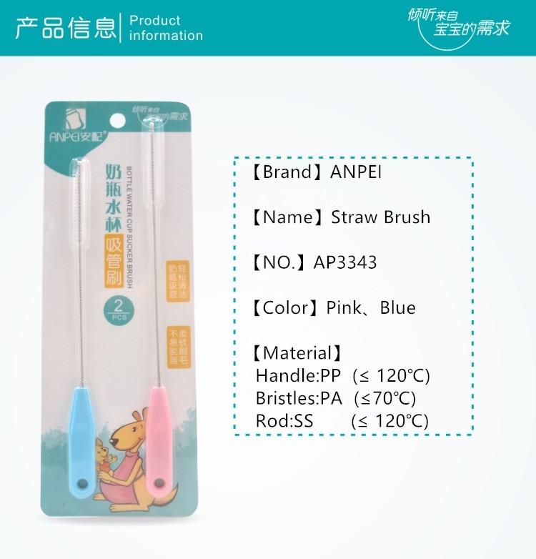 Hemoton 2 Unids Esponja Botella de Beb/é Cepillo de Limpieza de Leche de Cristal Botella de Alimentaci/ón Cepillo de Taza de Limpieza Copa Scrubber Cepillos de Lavado Azul