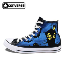 Original Converse All Star Halloween Design Custom Hand Painted Shoes Man Woman High Top Women Men Sneakers Best Birthday Gifts(China)