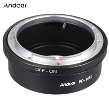 Andoer Manual Focus FD-NEX Lens Mount Lens Adapter Ring for Canon FD Lens to Fit for Sony NEX E Mount Digital Camera Body
