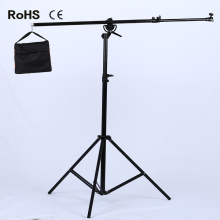 2.8m/9.1ft Wishbone photographic equipment photography studio accessory kit retractable cantilever Metal Light Stand + Sand Bag