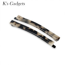 K's Gadgets 2017 New Long Cellulose Acetate Barrette Acrylic Hair Clip Simple Thin Barrettes Girls Hair Jewelry