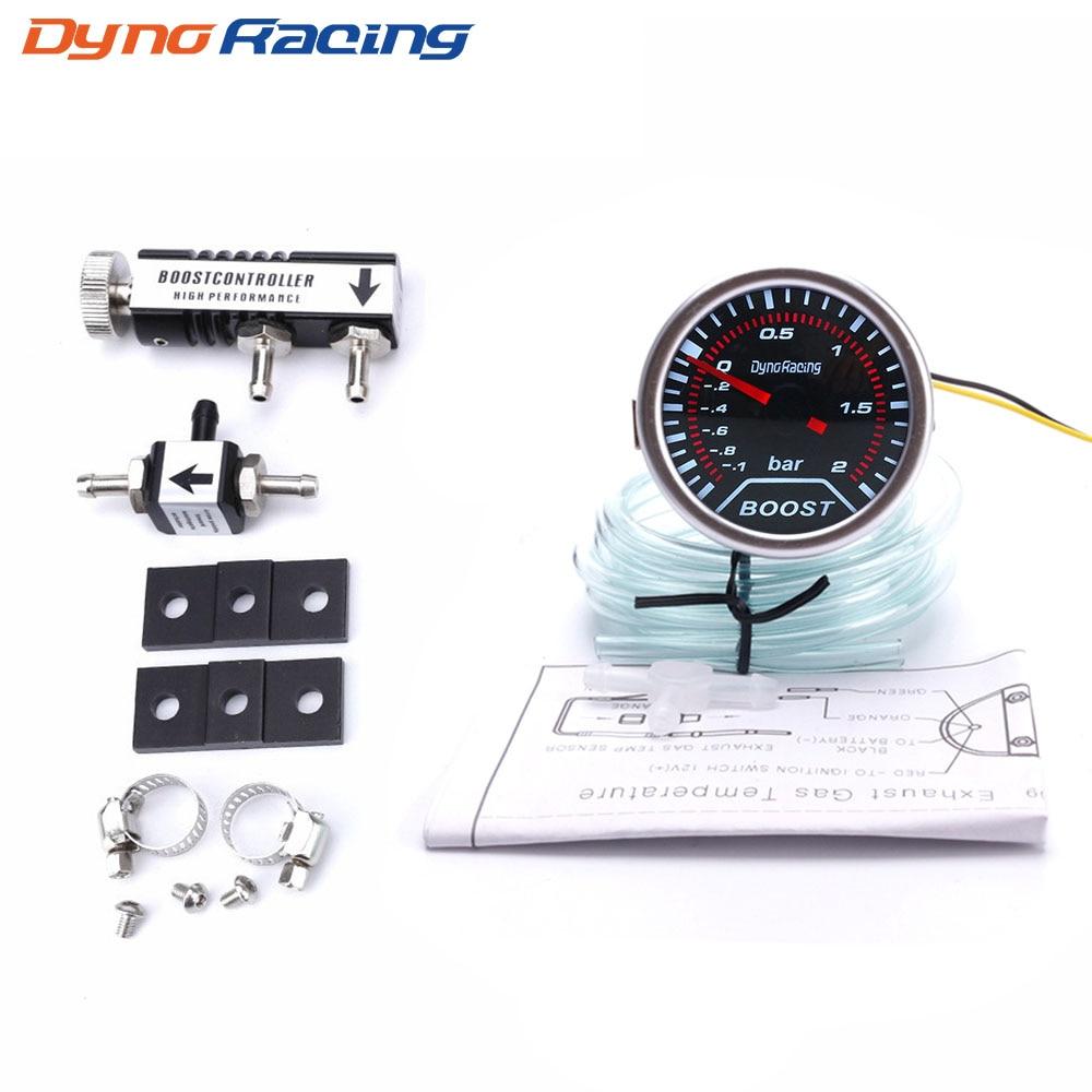 """2.5/"""" Digital LED Turbo Boost Gauge 30PSI Manual Adjustable Boost Controller Kit"""