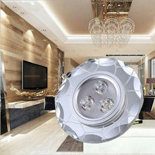 Water Cube AC85-265V led light fixture Crystal LED Downlight 3W LED Ceiling Lamp Corridor Lights LED Spot Light x 5pcs