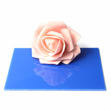 148*105*3mm Blue Acrylic Plate Clear (Extruded) Home Decor Plexiglass Plastic Transparent Sheet Best Price(China)