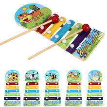 ChristmasBaby Kids Instrument Musical Toys for Children Cute Animal Pattern Wooden Toy piano Development Toys