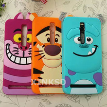 Asus Zenfone 2 Case 3D Monsters Alice Cat Sulley Tigger Rubber Mobile Phone Cases Covers Asus Zenfone 2 ZE551ML Silicon Case(China)