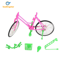 Leadingstar Toys Bike With Basket For Barbie Pop 1 New Green Plastic Detachable Bike Toys Bike With Basket Great Kids Gift zk30