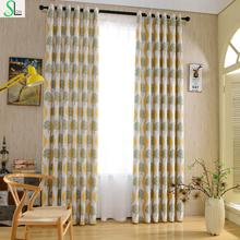 Slow Soul New American Country Cotton Jacquard Curtain European Luxury Curtains Floral Cortinas For Living Room Kitchen Bedroom