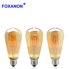 Vintage LED Edison Filament Bulb Dimmable ST64 E27 220V 2W 4W 6W 8W Retro Edison Bulbs 110V Led lamp Replace Incandescent Light(China)