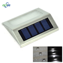 Solar Power LEDs Outdoor waterproof Garden Pathway Stairs Lamp Light Energy Saving LED Solar wall Lamp Warm White Cold white(China)