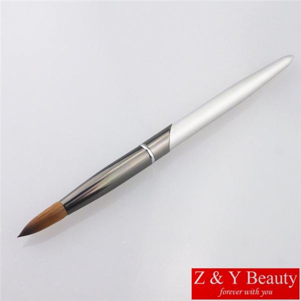 Factory Direct,SIZE 22, 100%Kolinsky Sable Brush Acrylic Nail Beauty Brush with Metal Handle K17010-22<br>