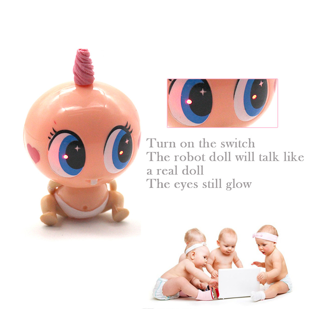 Fashion Baby Doll Giggling Talking and Crying Doll Toy Soft Plush Fabric NEW