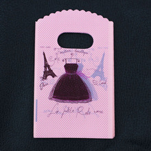 Special Offer ! Eiffel Tower Print Plastic Gift Bag 20 Styles 50pcs/lot 9*15 cm Shopping Bags With Handle Dress Jewelry Pouch(China)