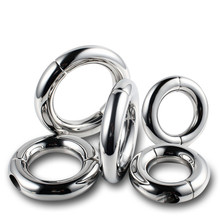 Buy Stainless Steel Cock Rings Metal Male Penis Rings Chastity Device Adult Games Fetish Sex Toys Men