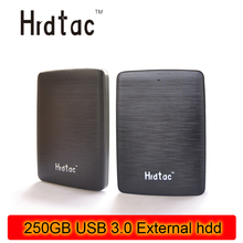 100% real NEW External portable Hard Drives HDD 250GB USB 3.0 disk 250gb usb 3.0 for Desktop and Laptop Free shipping(China)