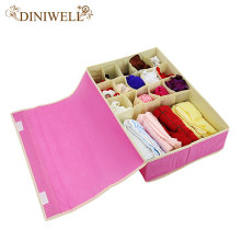 DINIWELL 15 Cell Nonwoven Folding Underwear Organizer Closet Drawer Storage Box For Socks Ties Bra Lingerie Divider Contanier(China)