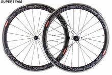 700C Clincher Carbon Wheels 50mm Carbon Wheelset Alloy Braking matte finish Carbon Road Bike Wheel aluminum brake