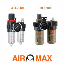 "1/4"" AFC2000 BFC2000 Air Filter Regulator Lubricator Combinations Oil Separator PneumaticTreatment Unit(China)"