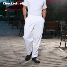 Top quality Cook pants cook suit trousers checkedout work pants white chef pants