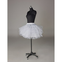 Abbille White Petticoat Short Women Underskirt For Women Adults Dress jupon Match Costumes 2017(China)